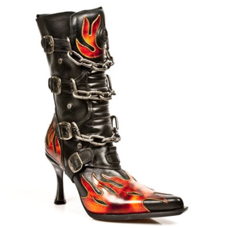 New Rock Schuhe Flame High Heel, Malicia, Kette, M.47001-S11