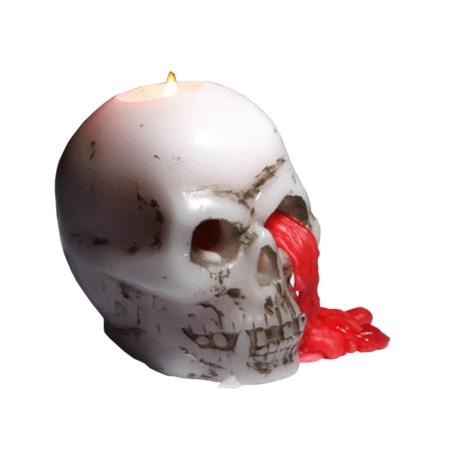 Bleeding Skull Candle