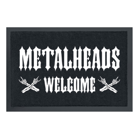 Fussmatte: Metalheads welcome
