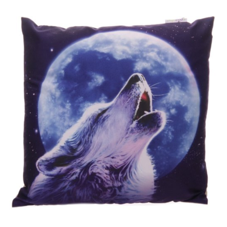 Kissenbezug heulender Wolf