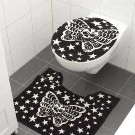 Badezimmer-Set Skull-Schmetterling