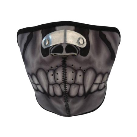 Bikermaske Neopren Skelett Röntgenbild