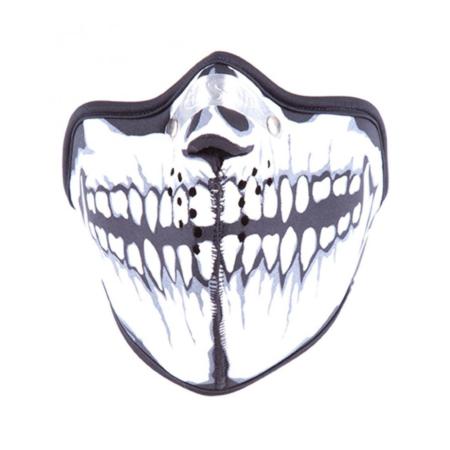 Bikermaske Neopren Totenkopf