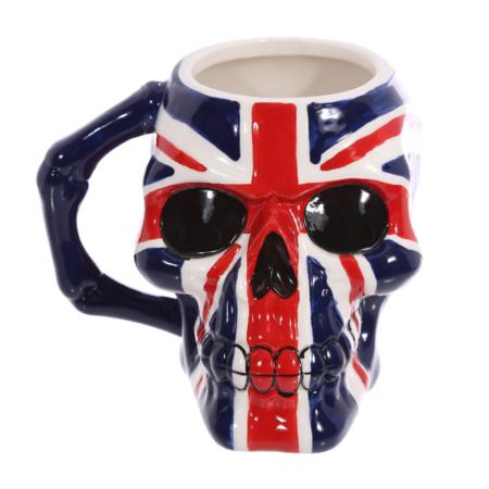 Britische Flagge Schädel Totenkopf Tasse
