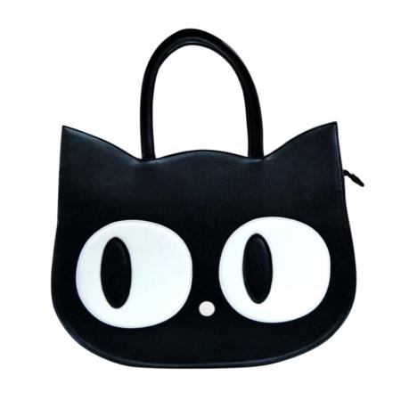 Handtasche Katze schwarz