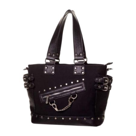 Handtasche mit kleinen Handschellen