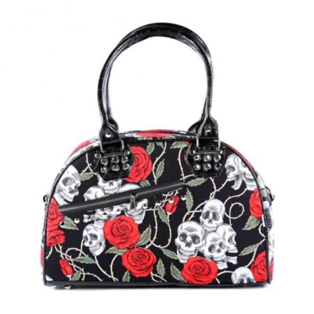 Handtasche Totenkopf und Rose