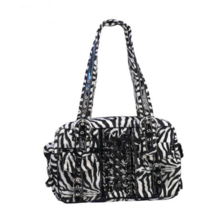 Handtasche Zebrafell und Corsage