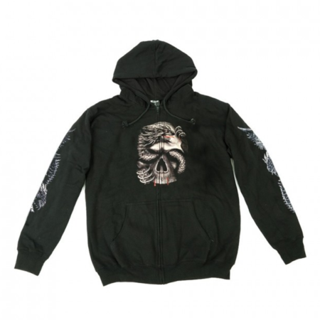 Hoodie Zipper Wild Dragon Skull Glow