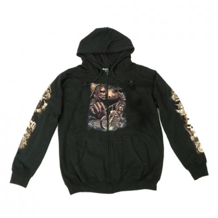 Hoodie Zipper Wild Riding Death Glow