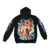 Hoodie Zipper Wild Wolfsrudel Kopf 2