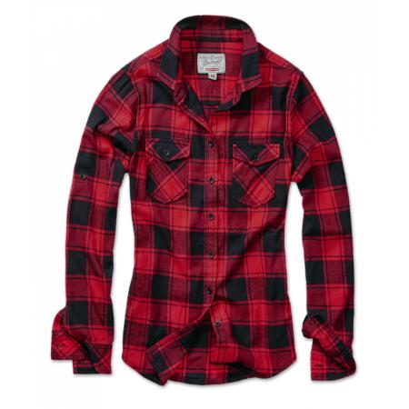 Karo-Flanellhemd rot-schwarz mit Brusttaschen