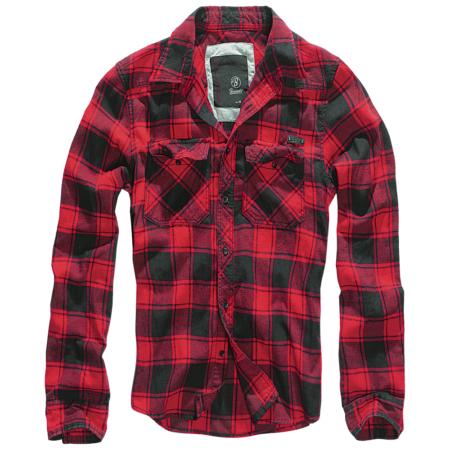 Karohemd rot-schwarz mit Brusttaschen