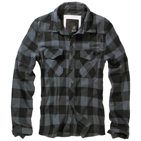 Karohemd schwarz-grau mit Brusttaschen
