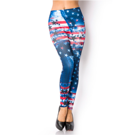 Leggings mit Stars-and-Stripes-Print