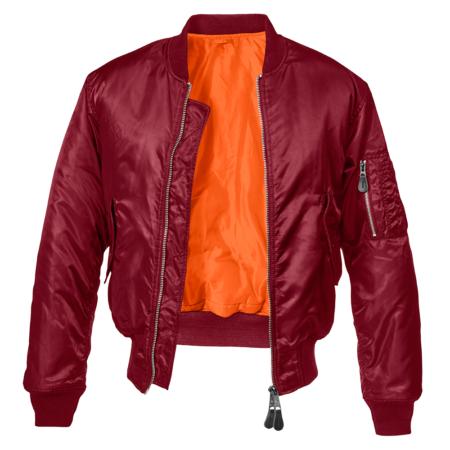Pilotenjacke Bomberjacke in rot-burgundy