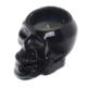 Schwarzer Totenschädel Soja Kerze in Glas - Gewürzter Rum