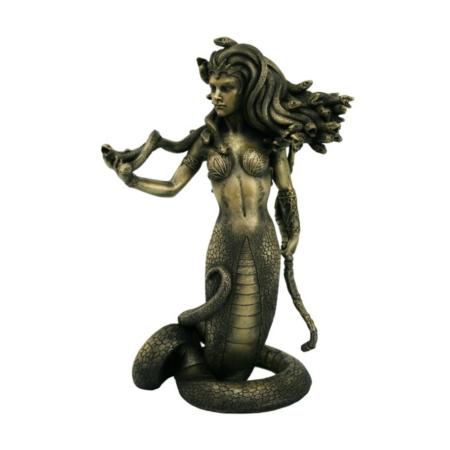 Statue Medusa stehend mit Bogen