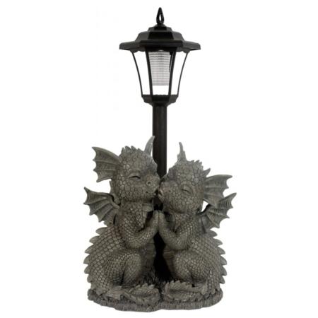 Gartendrache Loving Dragons mit Solarlampe